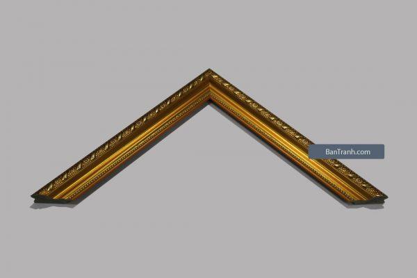 Khung hình ảnh màu vàng đồng nổi bật và thanh mảnh