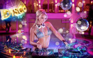 Tranh dán tường 3D Điệu Disco cho đêm nay