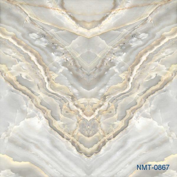 Tranh dán tường 3D giả đá vân trắng nhã nhặn