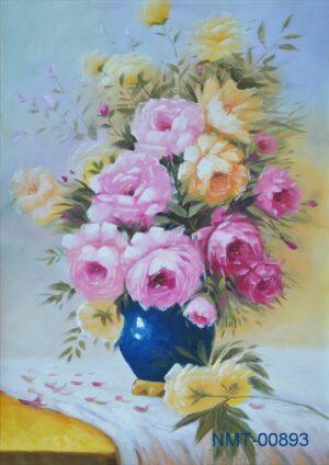Tranh dán tường 3D hoa hồng đẹp