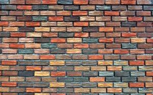 Tranh dán tường 3D Tường đá nhiều màu