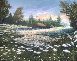 Tranh mùa cỏ lau