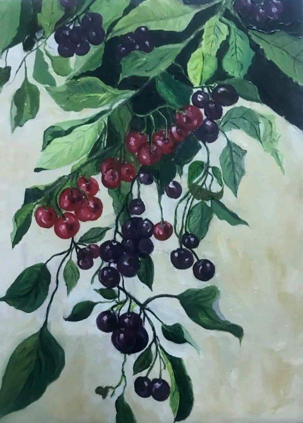 Tranh Chùm anh đào (Cherry)
