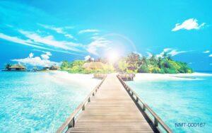 Tranh dán tường 3D Đường đến thiên đường Biển