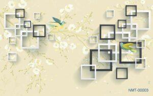 Tranh dán tường 3D Mùa xuân tới