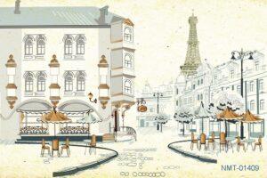 Tranh dán tường 3D Paris của tôi