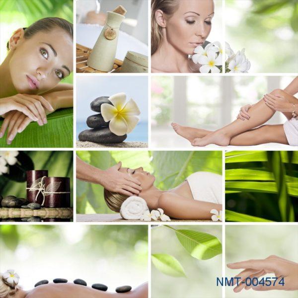 Tranh dán tường 3D spa chăm sóc làn da