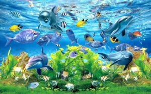 Tranh giành tưởng 3D Thế giới thủy sinh