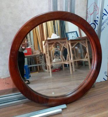 Khung gương tròn gỗ hương đẹp, giá tốt nhất
