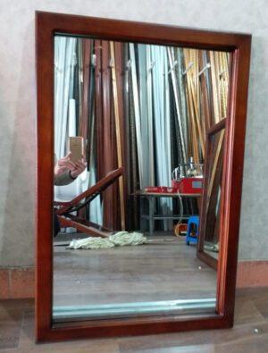 Khung gương vuông gỗ gõ đỏ đẹp, giá rẻ nhất