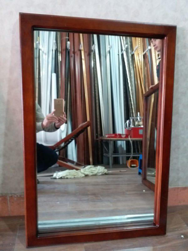 Khung gương vuông gỗ hương đẹp, chất lượng cao