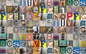 Tranh dán tường 3D Những chữ cái vui nhộn