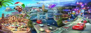 Tranh dán tường 3D Thế giới ô tô