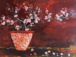 Tranh Xuân hồng