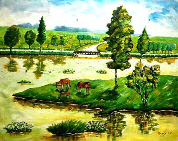 Tranh Sông quê