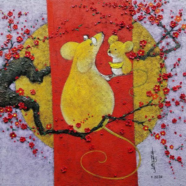 Chuột vàng đón xuân sang