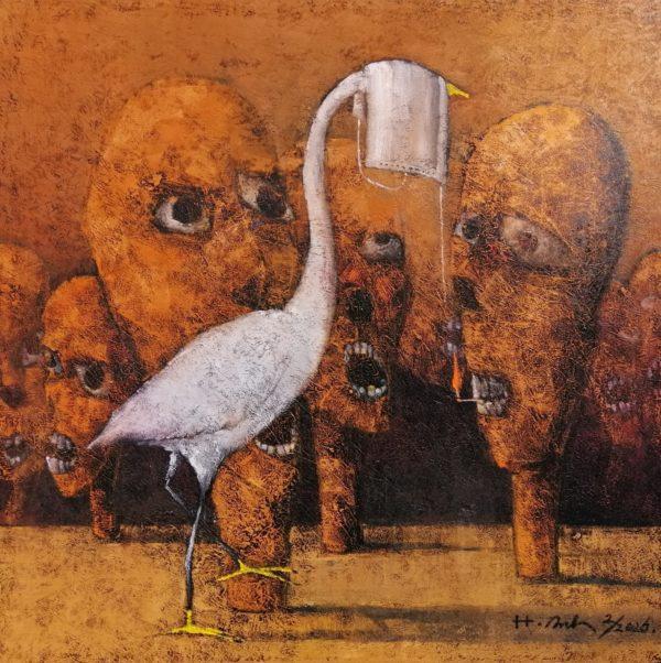 Tranh Truyện con cò và chiếc khẩu trang