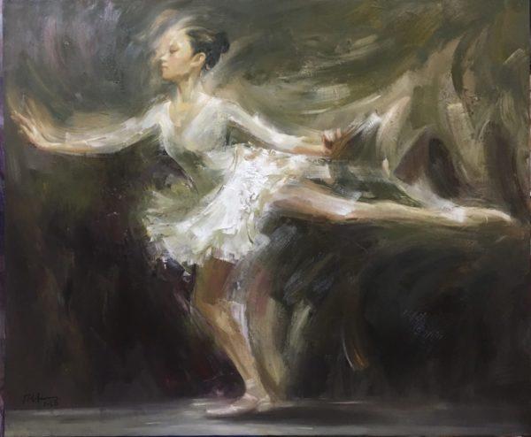 Tranh Ballet dancer