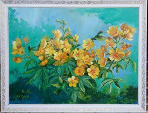 Tranh Hoa xuân (hoa mai giảo)