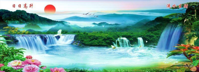 8 bức tranh 3D sơn thủy hữu tình đẹp