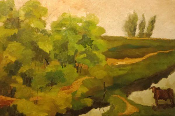 Tranh Mùa thu vàng trên sông