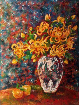 Tranh Hoa cúc
