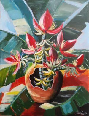 Tranh Hoa chuối rừng