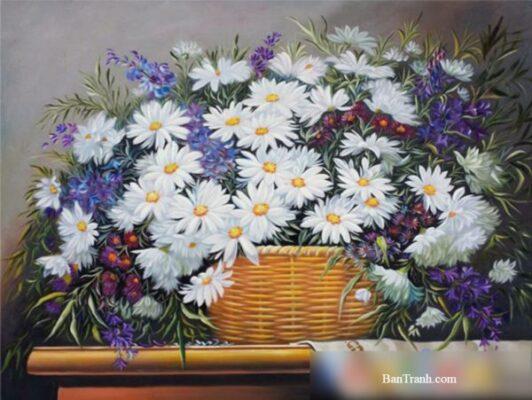 6 bức tranh hoa đẹp và lôi cuốn người xem