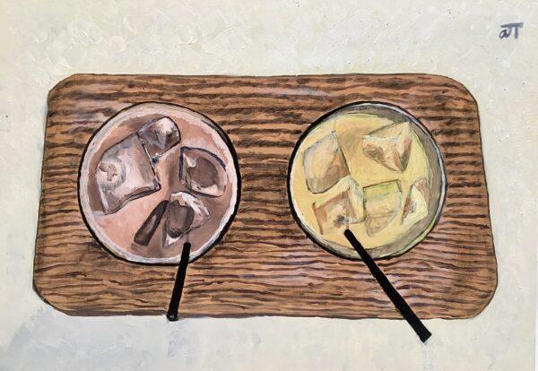 Tranh Cà phê và nước cam