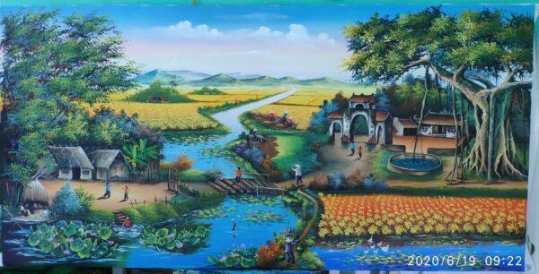 Tranh Tranh phong cảnh Đồng Quê