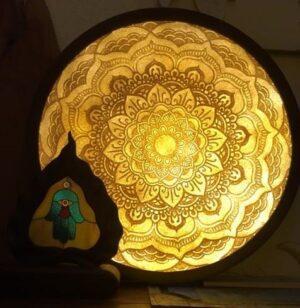 Tranh dừa mandala tron