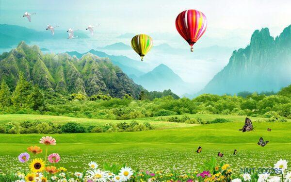 Tranh dán tường 3D Cảnh đẹp quê hương