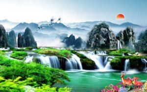 Tranh dán tường 3D Thiên nhiên hùng vĩ