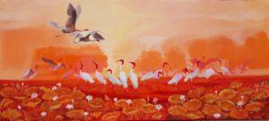 Tranh Đất Lành Chim Đậu