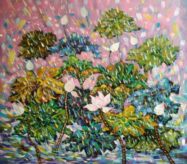 Tranh Mưa rào trong nắng hồng