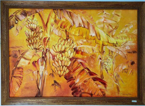 Tranh lá chuối vàng