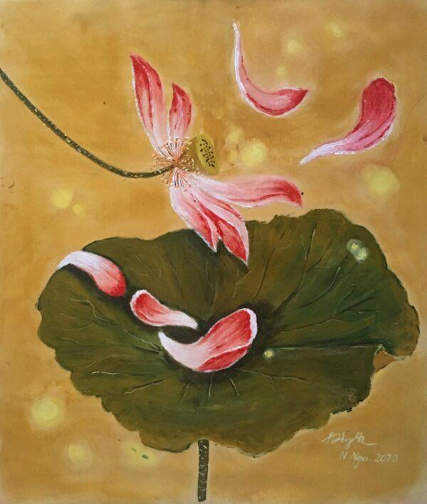Tranh Hoa nở hoa tàn