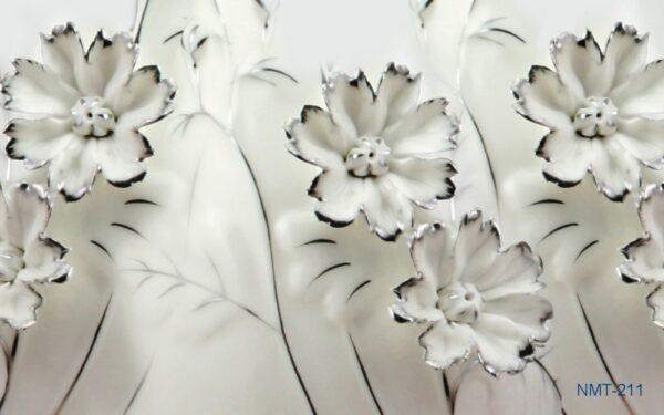 Tranh dán tường 3D hoa không sắc