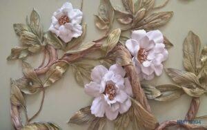 Tranh dán tường 3D hoa sắc thời gian