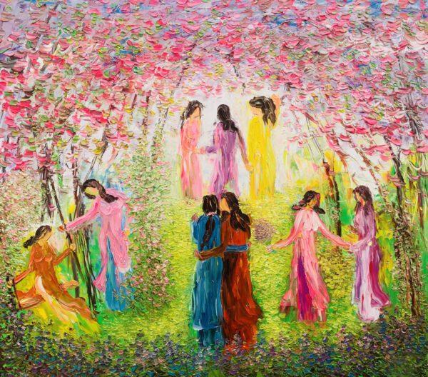 Phụ nữ trong vườn xuân