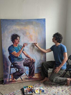Chàng họa sĩ tự vẽ chính mình