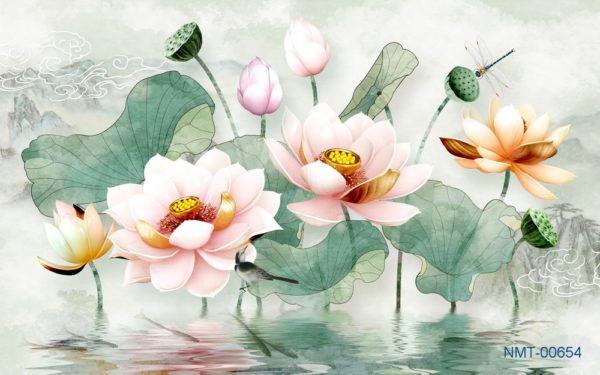 6 bức tranh 3d hoa sen đẹp và lôi cuốn