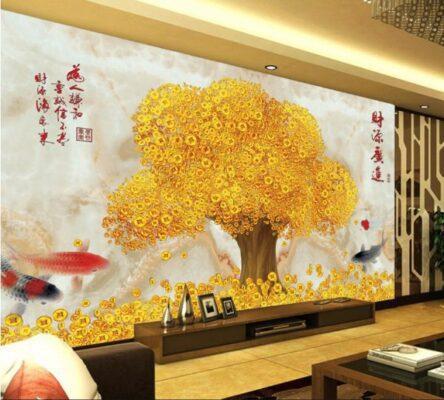 6 bức tranh thần tài, cây kim tiền, mang tài lộc vào nhà
