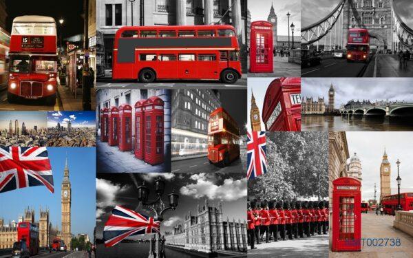 Tranh dán tường 3D London