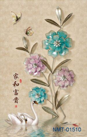 Tranh dán tường 3D nhánh hoa ngọc ngà