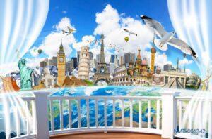 Tranh dán tường 3D những địa danh nổi tiếng thế giới