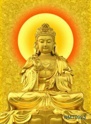 Tranh dán tường 3D Phật bà quan âm