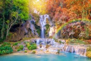 Tranh dán tường 3D thác nước giữa rừng