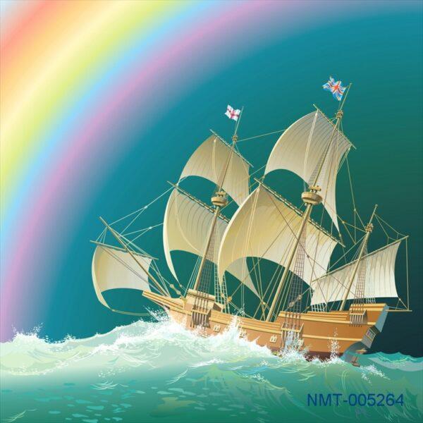 Tranh dán tường 3D thuận buồm xuôi gió #2