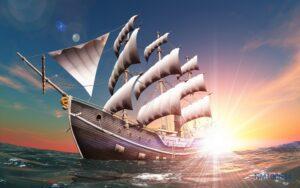 Tranh dán tường 3D thuận buồm xuôi gió #4